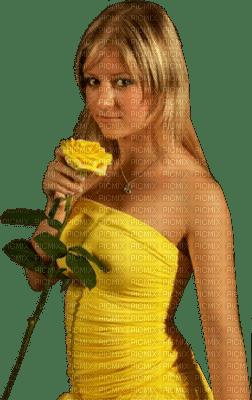 Kaz_Creations Woman Femme Yellow Flower