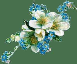 Vintage blue flowers