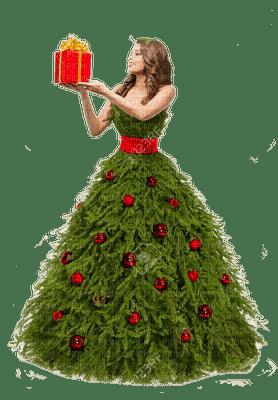 woman christmas dress pine tree femme sapin noel robe