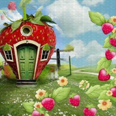 charlotte aux fraises fond  strawberry shortcake bg