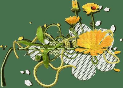 Kaz_Creations Flowers Fleurs Deco Yellow Ladybug