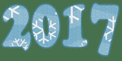 2017 snow blue text