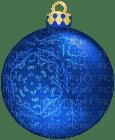 Kaz_Creations Blue Christmas Bauble Ornament