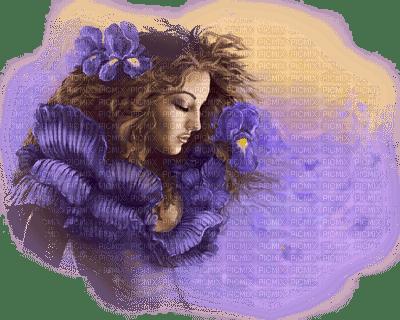 woman purple femme violet