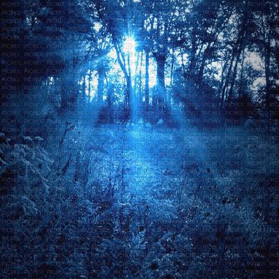 blue forest bg transparent bleu fôret fond