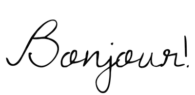 Kaz_Creations Text Logo Bonjour