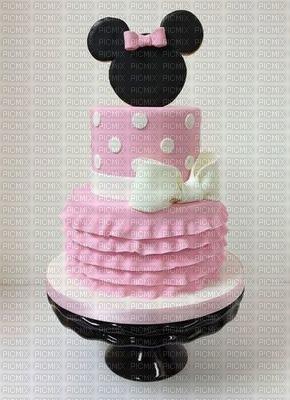 image encre fête gâteau Pâtisserie bon anniversaire Minnie edited by me