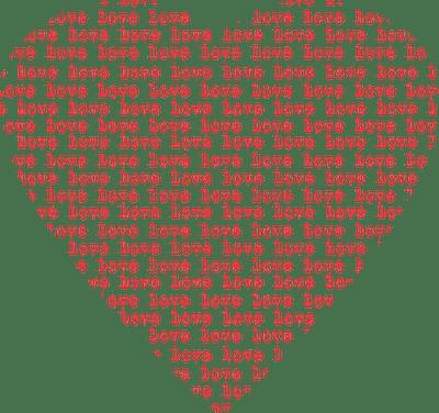 heart transparent text love