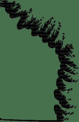 pine tree frame border snow winter sapin hiver neige bordure