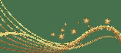 ornement doré en vague
