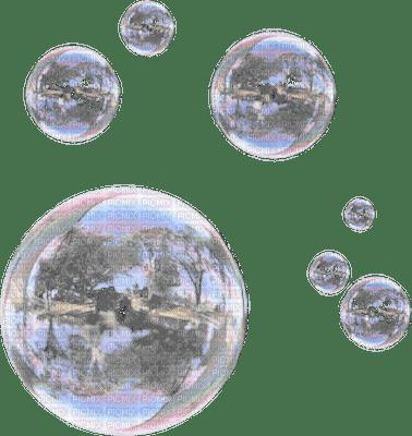 bubbles transparent deco