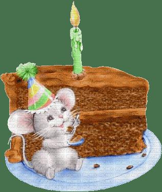 Minou Birthday Bunny Cake Candle