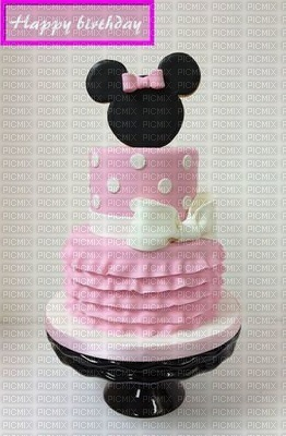 image encre gâteau happy birthday bon anniversaire Minnie Disney edited by me