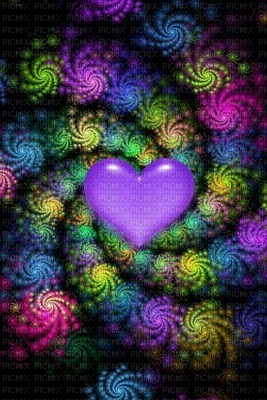 Colorful Heart With Spirals