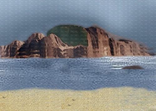 bg blå hav och berg