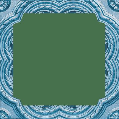 soave frame vintage corner blue