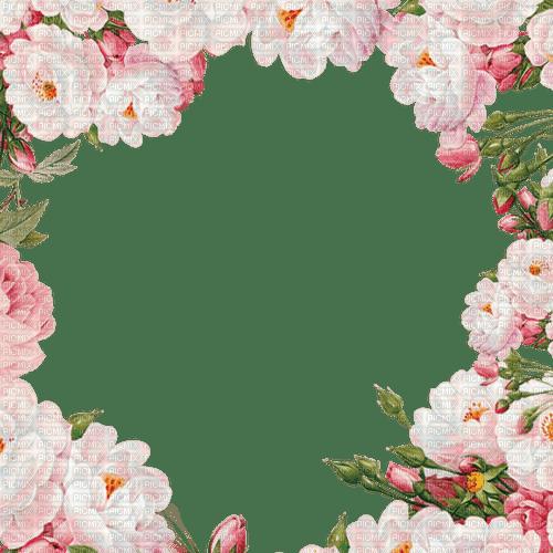 pink flower frame cadre rose fleur