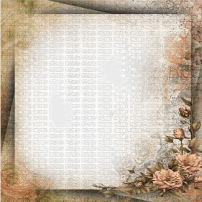 cadre brun  beige vintage fleur brown vintage frame