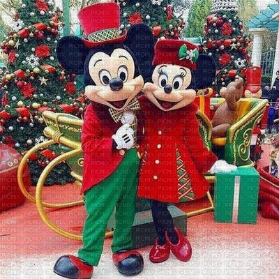 Image Encre Couleur Noël Sapin Minnie Mickey Disney