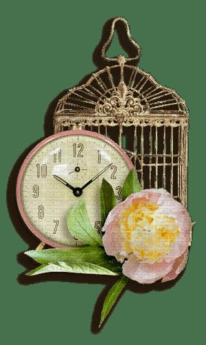 flower tube decoration clock_fleur tube décoration l'horloge