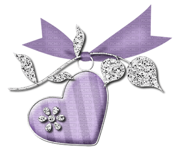 Kaz_Creations Heart Love Deco Ribbon Purple