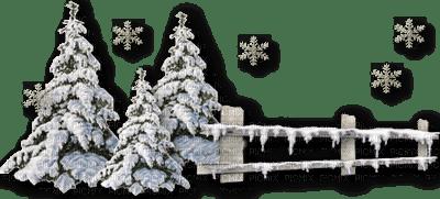 chantalmi paysage barrière hiver winter neige snow noël déco sapin
