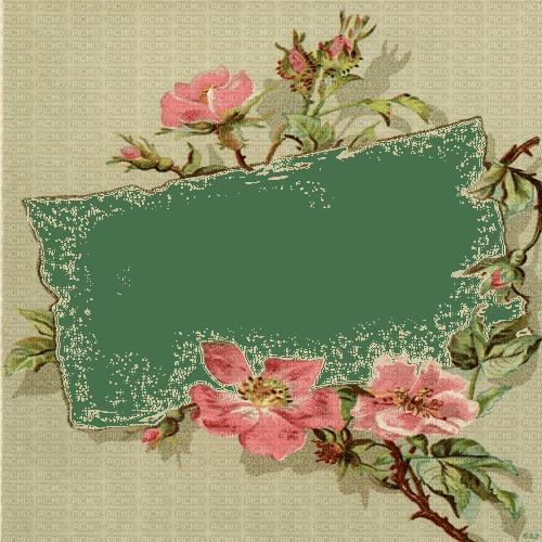 vintage flower frame cadre fleur vintage