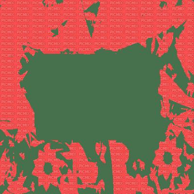 cadre rouge transparent  frame red