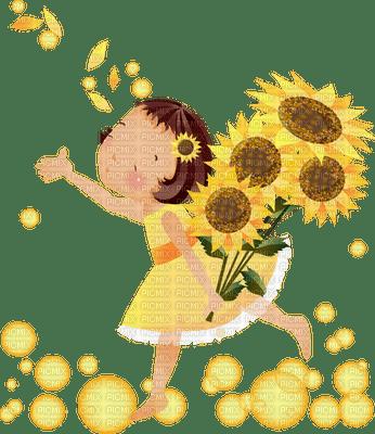Kaz_Creations Yellow Deco Scrap Flowers Flower Cute Kids