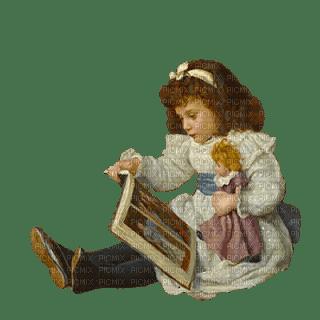 enfant fillette  vintage child girl doll