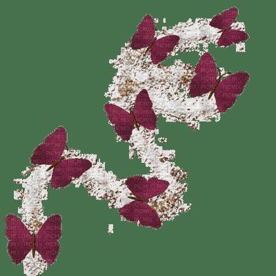 Papillons bordeau