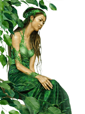 Kaz_Creations Woman Femme Green Fantasy