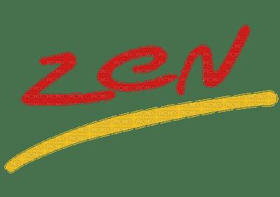 zen text logo