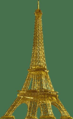 la tour Eiffel,Paris,gold,deko,Pelageya