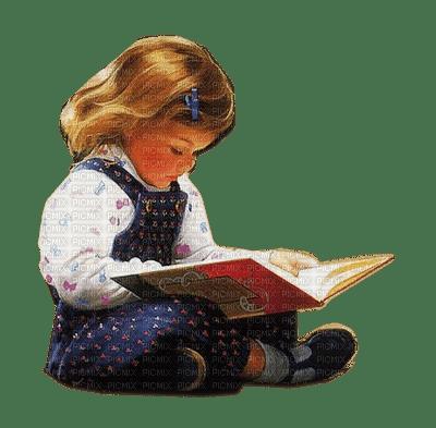 Kaz_Creations Baby Enfant Child Girl Reading Book