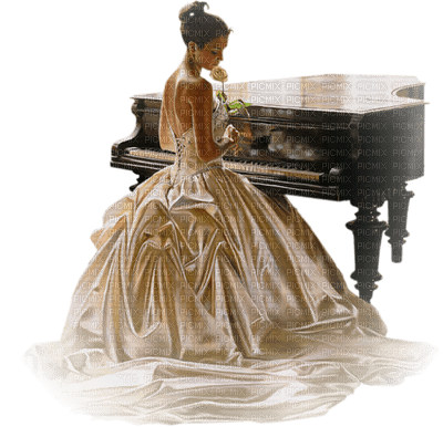 Kaz_Creations Woman Femme Playing Piano