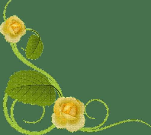 yellow rose deco corner jaune rose coin
