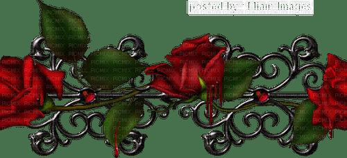 Gothic rose border gothique rose bordure