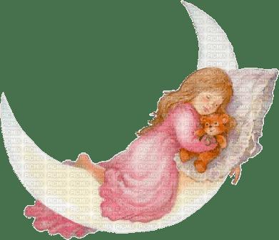 fille dans la lune