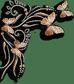 soave deco vintage corner butterfly beige brown