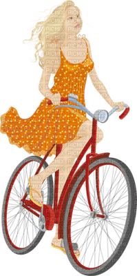 woman with bicycle bp