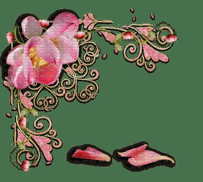 Coin déco fleur rose