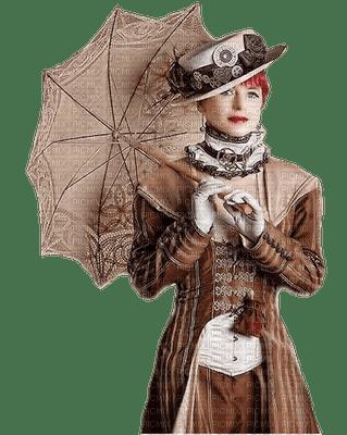 steampunk woman umbrella femme parapluie