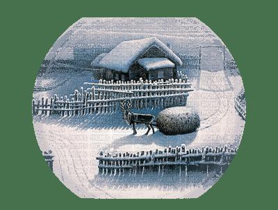 Winter, Snow, Deer, House, Scenery, Blue - Jitter.Bug.Girl