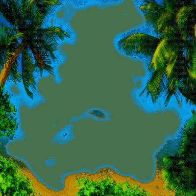 summer palm tree frame êtê   cadre palmier