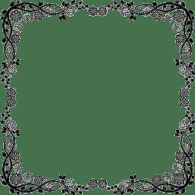 Frame, Frames, Flower, Flowers, Floral, Deco, Decoration, Black, Gray - Jitter.Bug.Girl