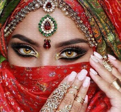 image encre femme fashion l' orient Inde Arabe Arabian mariage carnaval manucure les yeux edited by me