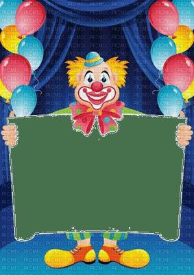 cadre frame rahmen tube foto clown birthday fond balloon blue anniversaire