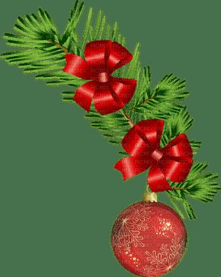 Guirlande et boule rouge