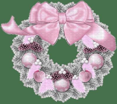 Pink Christmas Wreath